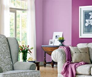 Sala de estar púrpura