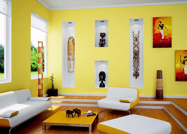 Cores o ponto g da casa for Sala de estar pintura