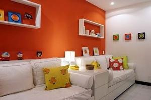 sala de estar laranja